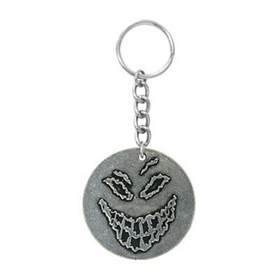 Disturbed Pewter Face Pewter Key Chain Silver