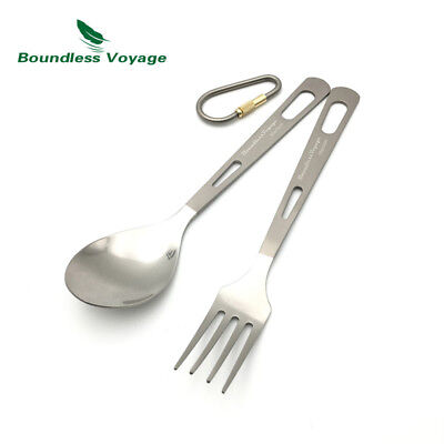 Titanium Cutlery Set Tableware Camping Spoon Outdoor Dinner Fork  Ti1559B