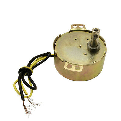 AC 220-240V/CW 4W Small Synchronous Gear Motor 15rpm for Crafts Rotate
