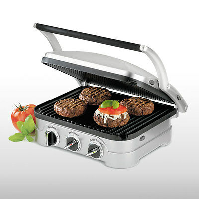 Cuisinart Griddler - Stainless Brushed RRP $249.00 Panini Press, Full Griddle