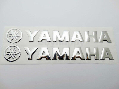 1 Pair Motorcycles Emblem Decal for YAMAHA Soft Fuel Ges Tank Bagge Sticker 20cm