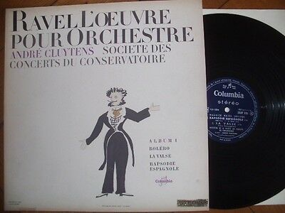 ANDRE CLUYTENS Ravel 1 FRENCH LP COLUMBIA SAXF 231 STEREO DOWEL SPINE