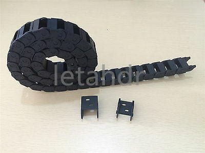 Plastic Nylon Cable Drag Chain 10 x 15mm R28 Engineering Wire Carrier 1000mm 40""