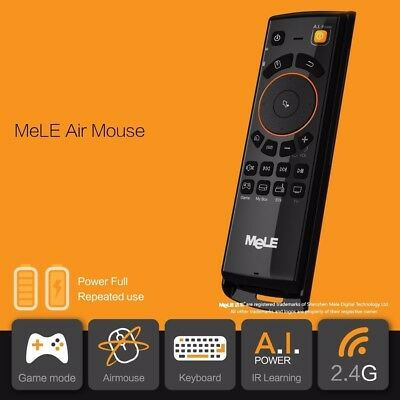 Mele Wireless Rechargeable Keyboard Air Mouse Remote Control For Android TV Box