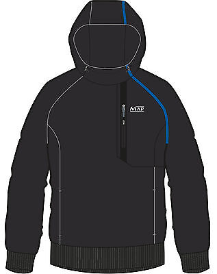 Map DWR Bonded Fleece Zipped Chest Pocket Tech Fishing Hoody – All Sizes Offered