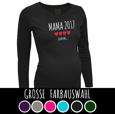 coole Umstandsmode langarm T Shirt by LOVE RULES Spruch Mama 2017 loading