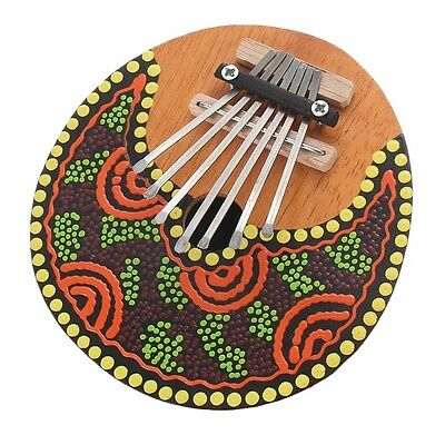 Kalimba Thumb Piano 7 Keys Tunable Coconut Shell Painted Musical Instrument KG