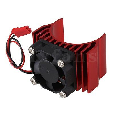 Red N10095 Alloy Heat Sink With Fan Cooling For 550/540 1:10 RC Car Motor New