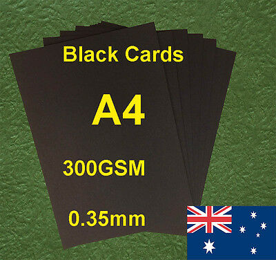 25 X A4 Black Paper Card Board 300GSM 0.35mm For Craft Invitation  Card