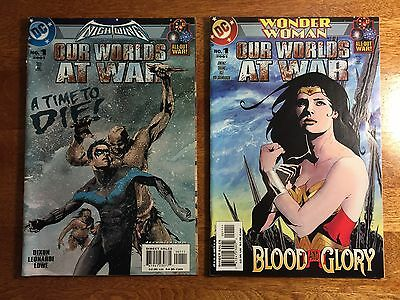 Our Worlds At War Set!  See included issues in description! DC 2001!