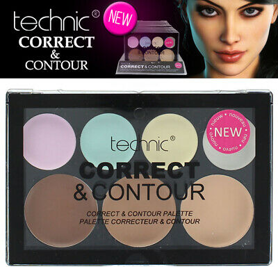 Technic Cream Colore Correct & Contour 7 Shade Palette