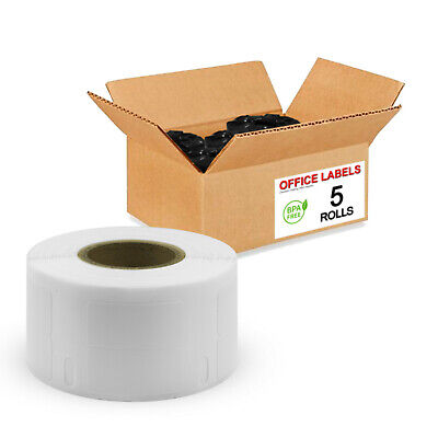 "5 Rolls of 30333 Compatible Labels 2-Up for DYMO® 1/2"" x 1"""