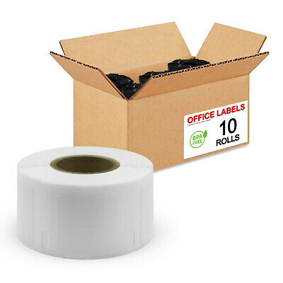 "10 Rolls of 30333 Compatible Labels 2-Up for DYMO® 1/2"" x 1"""
