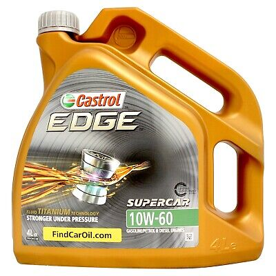 Castrol EDGE Supercar 10w-60 FST Fully Synthetic Car Engine Oil - 4 Litre 4L
