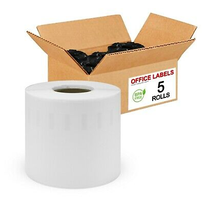 "5 Rolls of 99019 Compatible Labels for DYMO® 2-5/16"" x 7-1/2"""