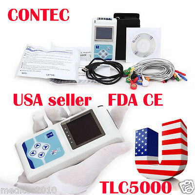 CONTEC TLC5000 12-Channel 24H Dynamic Holter ECG OLED PC synchro analysis