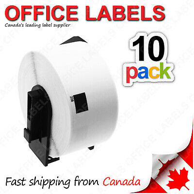 "10 Rolls of DK-1208 Compatible Labels for BROTHER® QL Printer 1-1/2"" x 3-1/2"""