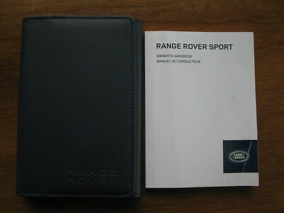 2014 Original French Range Rover Sport Owner's Handbook with Leather Wallet Case