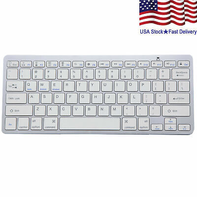 Wireless Bluetooth V3.0 Slim Keyboard for PC iOS iPads Android