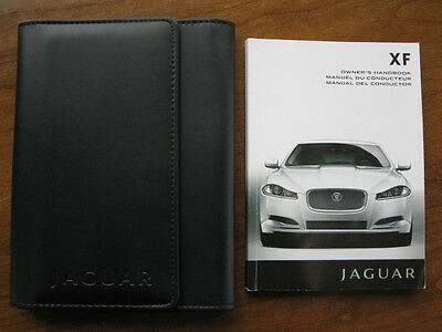 2014 Original Jaguar XF Owner's Handbook in French with Leather Wallet Case