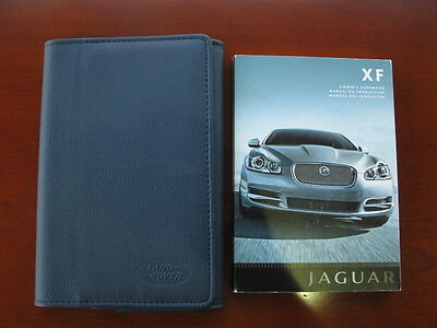 2007 Jaguar XF Owner's Handbook with Leather Wallet Case