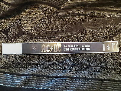 Ac/dc Concert Ticket Wristband Unused 28 Août 2015