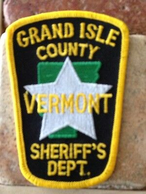 Grand Isle County Vermont Sheriff Patch