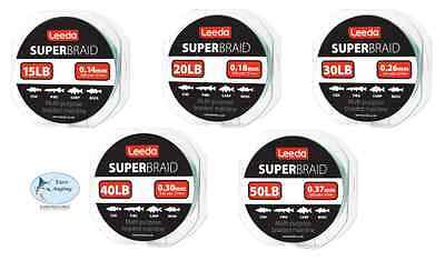 Leeda Super Braid Fishing Line - 300 yard Spool - All Sizes