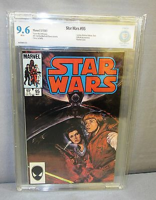 STAR WARS #95 (White Pages, Painted Cover) CBCS 9.6 NM+ Marvel Comics 1985 cgc