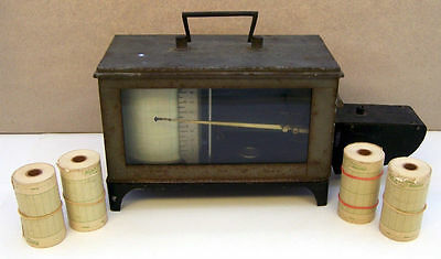 G. LUFFT GERMANY ADOLF CORP FRESE THERMOGRAPH RECORDING THERMOMETER Vtg Antique