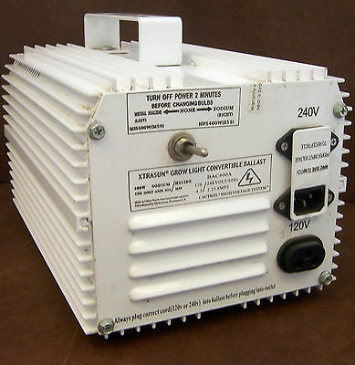XTRASUN GROW LIGHT CONVERTIBLE BALLAST, 400 WATTS, BAC400A HIGH VOLTAGE Vtg