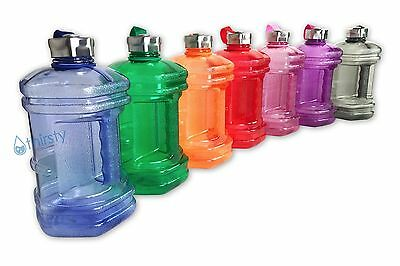 e0930bfc8b BPA Free Sports Water Bottle 2.3 Liters Hex Canteen Gym Jug Container Gallon  Oz
