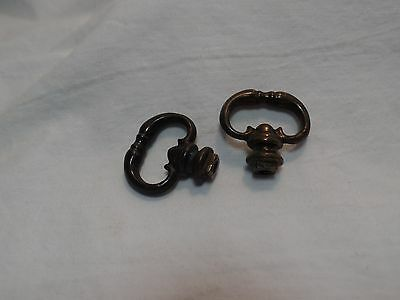 2 Piece Antique Brass Drawer Pulls Petite
