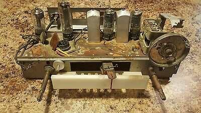 tube radio chassis with etched circuit board arts crafts project parts