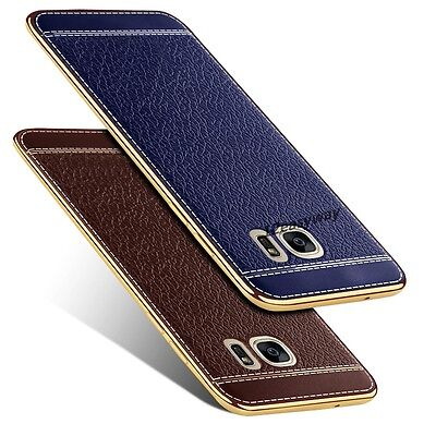 Luxury Ultra-thin PU Leather Back Case Cover For Samsung Galaxy S7 EDGE