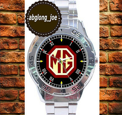 New MG MGB MIDGET ROADSTER Fashion Custom Chrome Men's Casual Watch Wristwatches