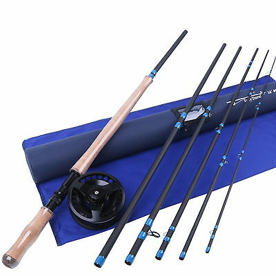 9/10WT Fly Rod Combo 14FT 6Pieces Spey Medium-fast Carbon Fly Fishing Rod
