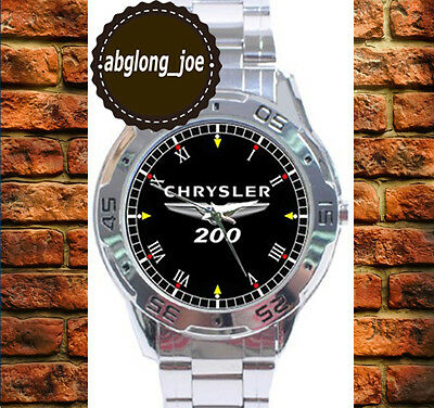 New CHRYSLER 200 Custom Fashion Chrome Men's Casual Watch Wristwatches