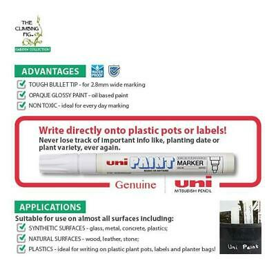 Permanent White Paint Marker | Write on plastic pots | Uni PX-20 | Write 2.8mm.