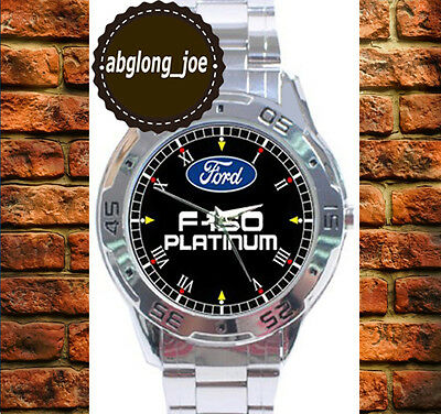 New FORD F-150 PLATINUM Custom Chrome Men's Casual Watch Wristwatches