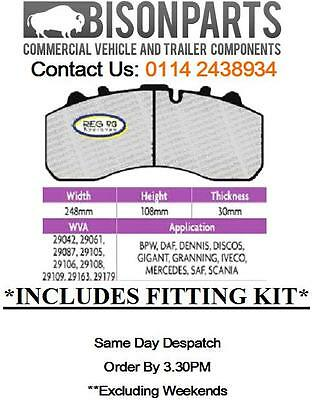 DAF LF55 Series 21 Tonne Front OR Rear Brake Pad Set *With Fitting Kit*