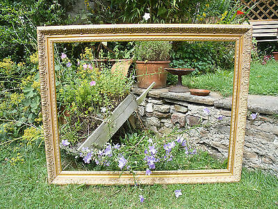 Large Vintage Antique Style Gilt Coloured Picture Frame (F165) Wedding Display