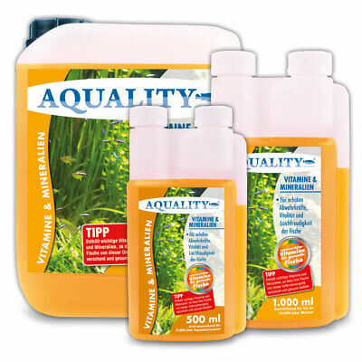 (20,00€/l) AQUALITY Vitamine & Mineralien fürs Aquarium, Vitaminzusatz 500 ml • EUR 9,99