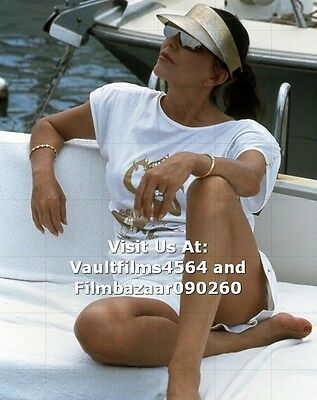 """JOAN COLLINS - 10"""" x 8"""" Colour Photograph taken in SOUTH OF FRANCE 1986 #2005"""