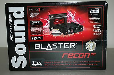 Creative Sound Blaster Recon3D PCIe Fatal1ty Champion Series Audio Card SB1354 N