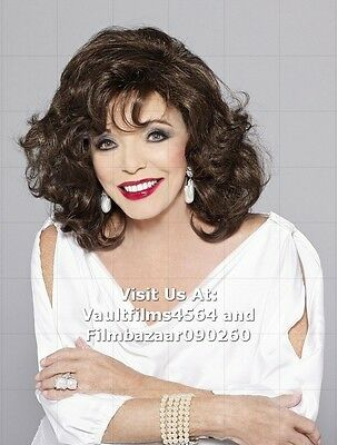 """JOAN COLLINS - 10"""" x 8"""" Colour Photo 'JOAN COLLINS WIG COLLECTION' #1859"""