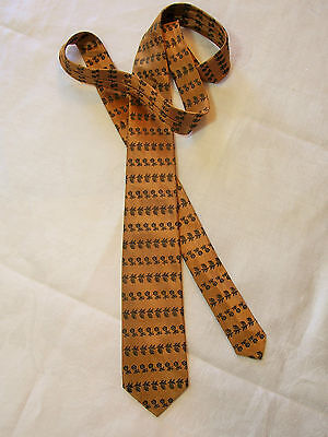 Elegant Vintage late 1950's Narrow/Skinny Men's Tie~Golden Griffen by Currie