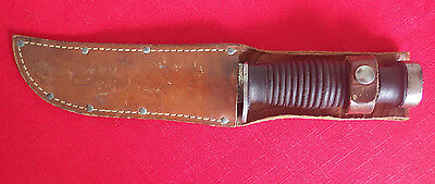 WWII Case XX Fighting Knife & Sheath signed by soldier, 1942 Fighting Knife,