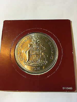 1974 The BAHAMAS Copper Nickel 5 Dollars Coin