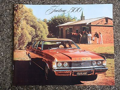 Ford Fairlane 1976 Zh Sales Brochure   100% Guarantee.
